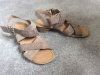 Gabor suede leather sandals, size 5