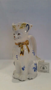 Royale Stratford CAT TOBY Porcelain Pitcher - Rushton Collection