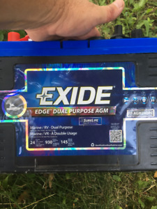 EXIDE MARINE or RV Battery - Model FP-AGM24DPC