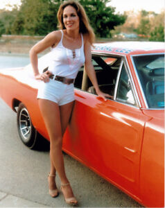 DAISY DUKE AND GENERAL LEE AT RED DEER COLLECTOR CAR AUCTION
