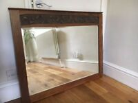 Antique arts and crafts large mirror