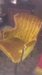Retro Gold Clean Great Condition Armchair