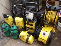 5 x karcher pressure washers plus 2 other brand. large joblot