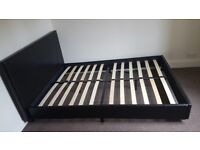 Double Low Leather Bed Frame