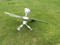Silver coloured fan light , good condition and really useful for when the summer returns