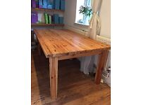 Solid large pine table (quick sale!)