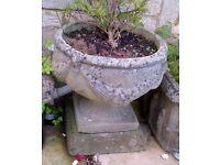 Concrete/Stone Planters (2)