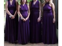 Twist and wrap bridesmaid dresses