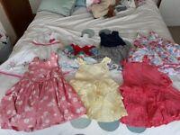Baby girl summer Bundle 12-18months including 7 dresses, short and top set, 5 romper suits