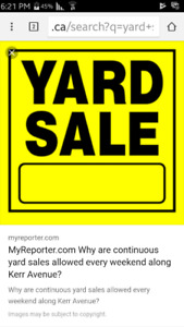 Yard sale has been ***Canceled****