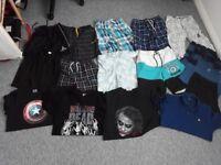 Boys shorts vests t-shirts bundle 13-15years