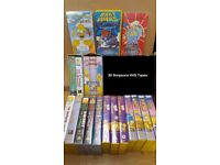 20 The Simpsons VHS tapes video - Great collection with rare episodes - inc. Star Wars simpsons