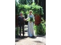Solid Wood Mahogany doors - a perfect entrance to your country wedding