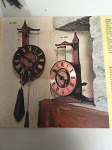 Horloge antique en bois.Kit construction. Superbe-instructif.