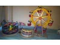 PLAYMOBIL LIGHT UP FERRIS WHEEL AND SPINNING RIDE (Used condition- bought 1 year ago)