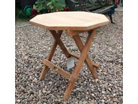 Teak Octagonal Folding Mini Garden Table - 50 x 50 x 50cm