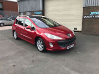 2009 PEUGEOT 308 SW 1.6 HDi 110BHP SE 7 SEATER SW,ONLY 70000 MILES WITH FSH