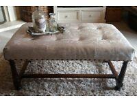 Padded coffee table / foot stool
