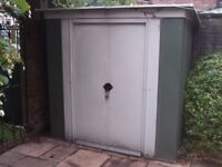 Garden shed (metal) 6ft wide by 4ft deep. 6ft high