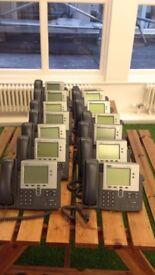 14 Cisco office desk phones **cheap**