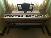 Yamaha YPG 635 88 weighted key electronic keyboard with pedals. RRP £400