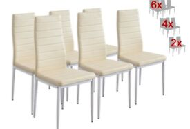 6 BRAND NEW Creme Dining Chairs