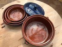 4 Ceramic Blue bowls