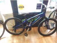 "Blue Barracuda x-jibe24 small frame 24"" wheel mountain bike good tyres, grip shifter gears"