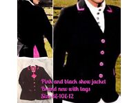 Equestrian show jackets size 8&12