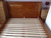 King size bed c/w mattress