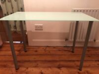 Ikea Desk with Glass Top