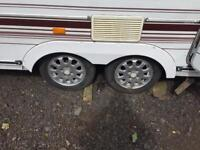 Caravan Alloys set of 4 with tyres