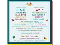 2 v festival tickets - full weekend camping