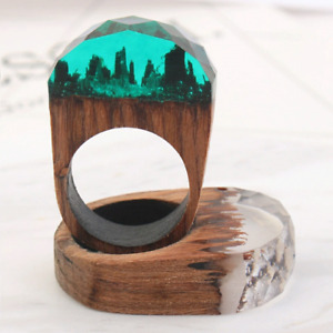 Hand crafted wooden rings