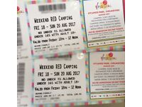 V Festival Weekend camping tickets x2 plus travel