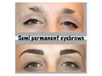 MICROBLADING £80, SEMI PERMANENT MAKEUP MAKE UP £90, INDIVIDUAL AND RUSSIAN 3D EYELASHES FROM £46