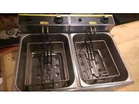 Buffallo Double Electric Fryer 2x5L