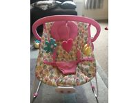 Mothercare Baby Bouncer with music and variable vibration