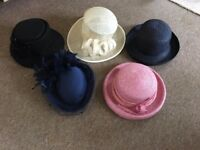 Selection of Five Ladies quality Dress Hats.