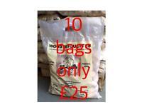 Wood fire briquettes 10kg bag,