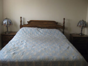 5 piece queen bedroom set+ box and mattress
