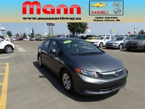 2012 Honda Civic LX - PST paid, Bluetooth, Cruise control.