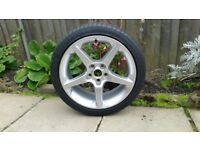 New 19inch Vauxhall Insignia 5 Spoke Alloy (with part worn tyre)