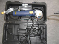 angle grinder 4 /1/2 inch mac/allister in carry case used once spare disc tools