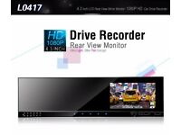 Eonon L0417 4.3″ Rear View Mirror Monitor HD Car Drive Recorder with Head Camera Dash Cam