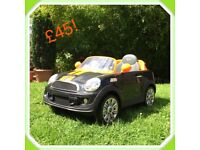 Kids motorised Mini Cooper Car