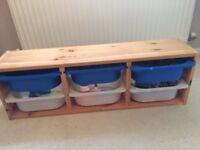 Ikea Trofast Wall Storage and Tubs