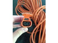 25m Extension lead Black and Decker