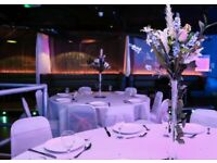 Wedding Decorations- For Hire- Table Centre pieces, Top table Flowers & Chair Sashes