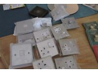 Lot of chrome light switches